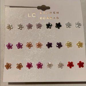 Lauren Conrad set of flower earrings